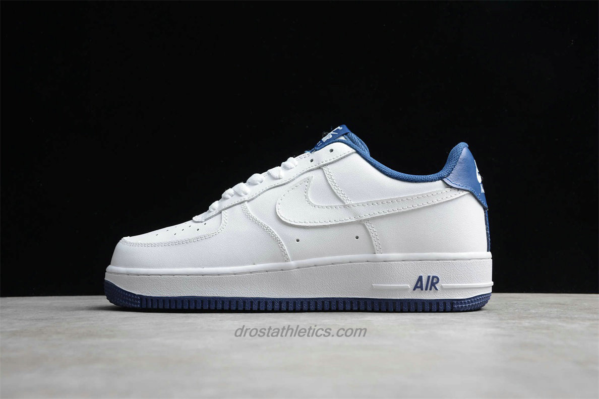 2020 Nike Air Force 1 07 LV8 Low CD0884 102 Unisex White / Blue Street Shoes