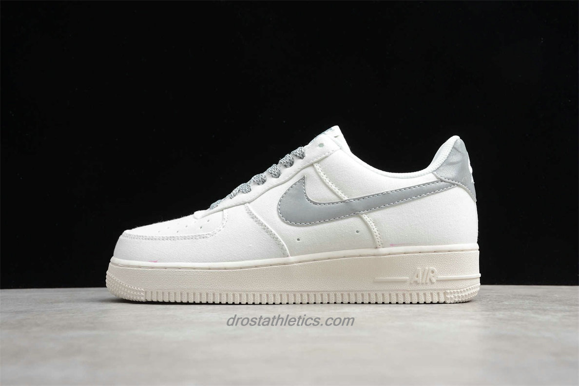 2020 Nike Air Force 1 07 Low 315122106 Unisex White / Silver Street Shoes