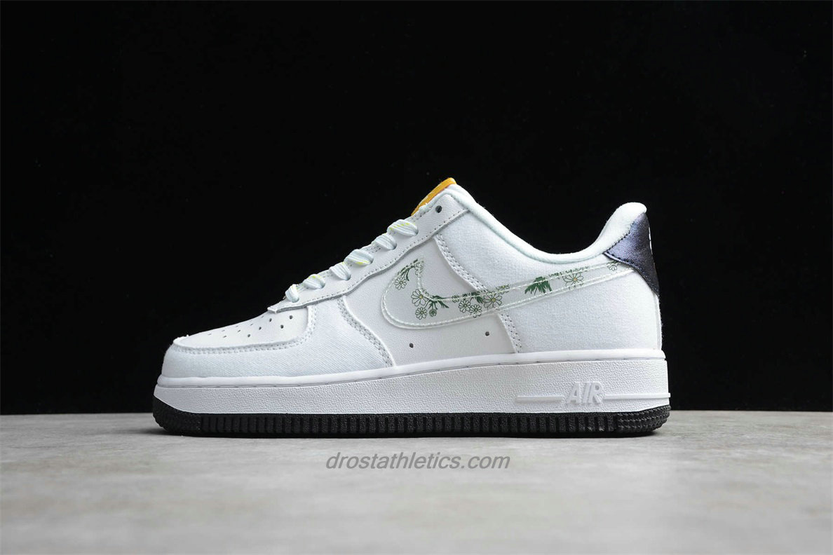 2020 Nike Air Force 1 07 Low CW5859 100 Unisex White / Black Street Shoes