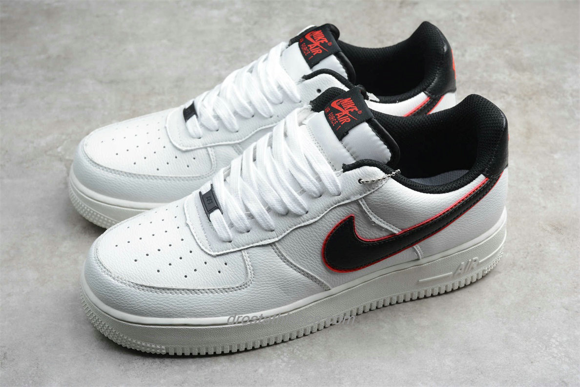 Nike Air Force 1 Low 07 HH CJ6105 101 Unisex White / Black / Red Fashion Sneakers