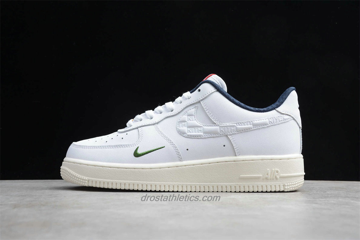 Nike Air Force 1 07 Low CU2980 193 Unisex White / Navy Blue Fashion Sneakers