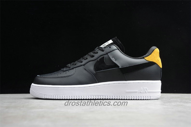 Nike Air Force 1 07 Low LX 898889014 Unisex Black / Yellow Fashion Sneakers