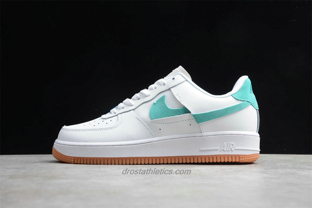 Nike Air Force 1 07 Low LX BV0740 100 Unisex White / Green / Blue Fashion Sneakers