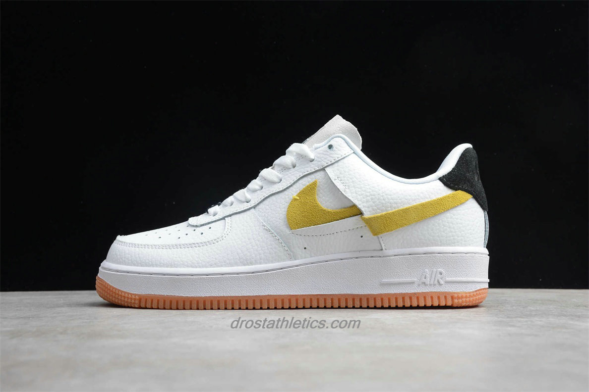 Nike Air Force 1 07 Low LX BV0740 101 Unisex White / Yellow / Black Fashion Sneakers