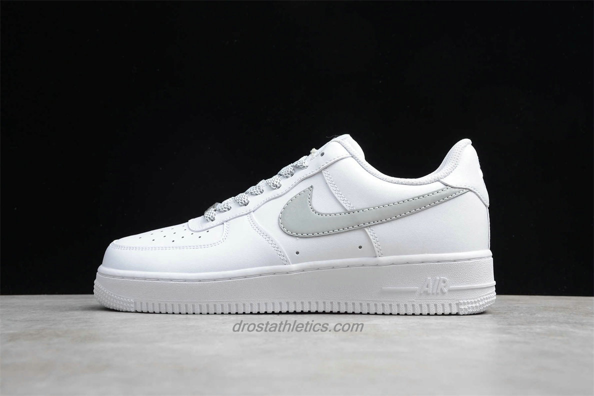 Nike Air Force 1 07 Low 315115112 Unisex White / Light Grey Fashion Sneakers