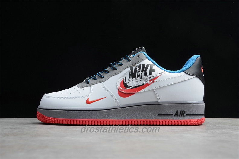 Nike Air Force 1 Low 07 AO2441 100 Unisex White / Red / Grey / Black Fashion Sneakers