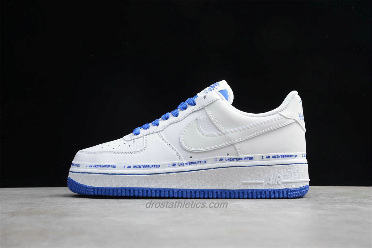 Nike Air Force 1 07 Low MTAA QS CU2980 193 Unisex White / Blue Fashion Sneakers