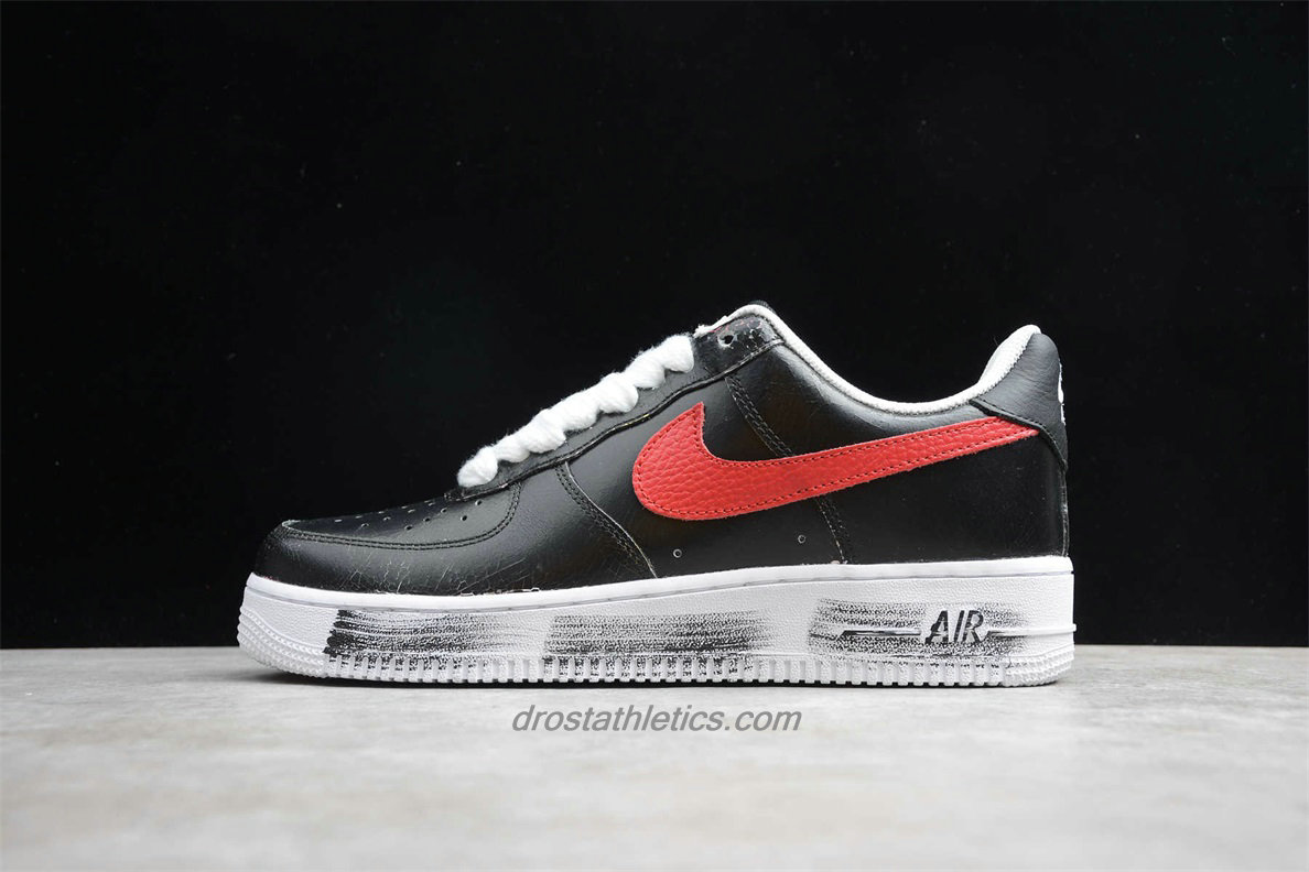 Nike Air Force 1 07 Low PARA NOISE AQ3692 002 Unisex Black / White / Red Fashion Sneakers