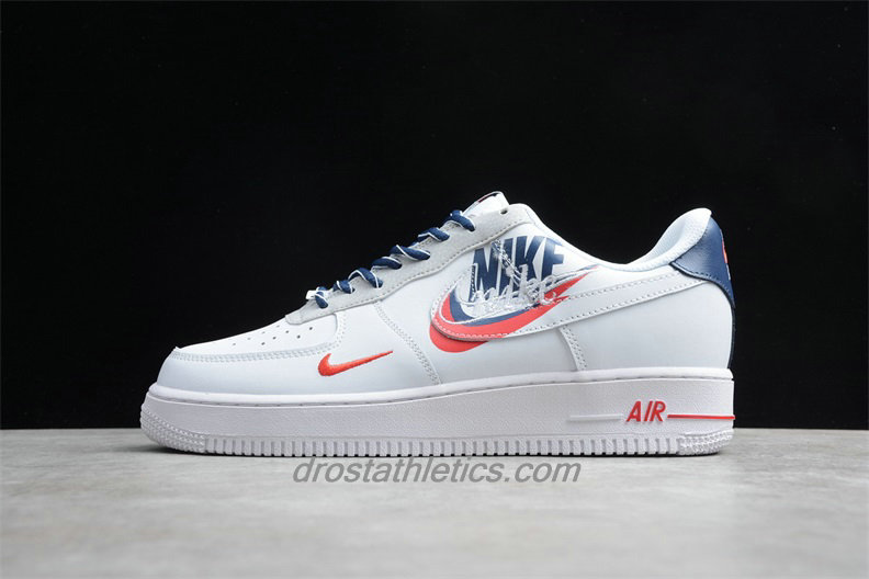 Nike Air Force 1 07 Low PRM QS CT1138 133 Unisex White / Dark Blue / Red Fashion Sneakers