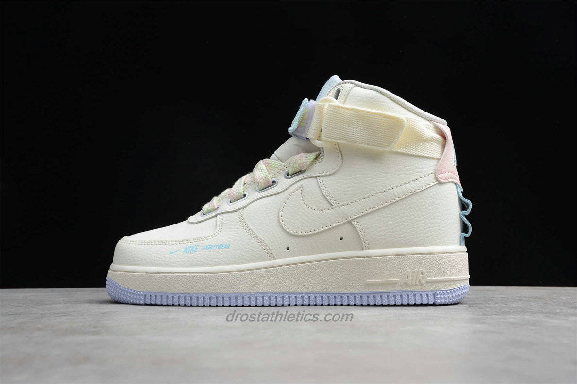 Nike Air Force 1 HI UT CQ4810 111 Unisex Beige / Purple Lifestyle Shoes