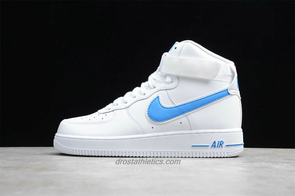 Nike Air Force 1 High 07 3 AT4141 102 Unisex White / Light Blue Lifestyle Shoes