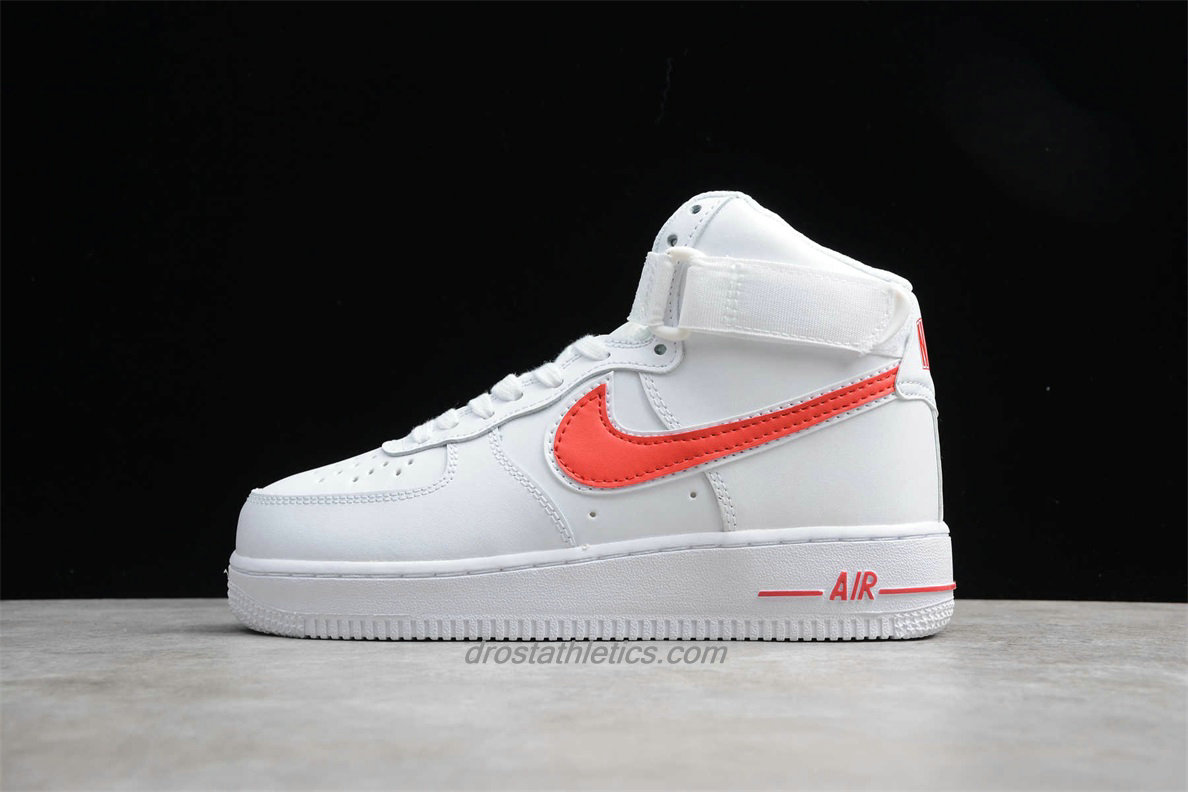 Nike Air Force 1 High 07 3 AT4141 107 Unisex White / Red Lifestyle Shoes