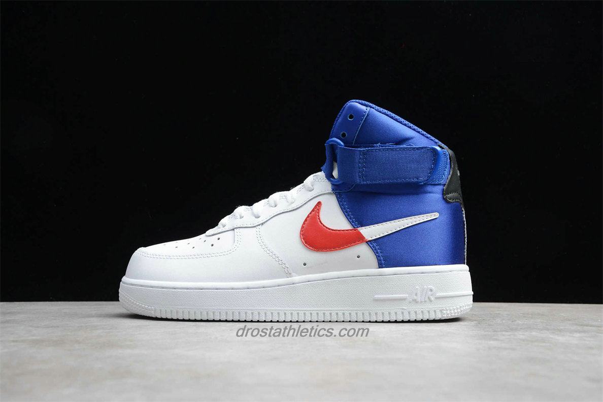 Nike Air Force 1 High 07 LV8 BQ2730 101 Unisex White / Red / Blue Lifestyle Shoes