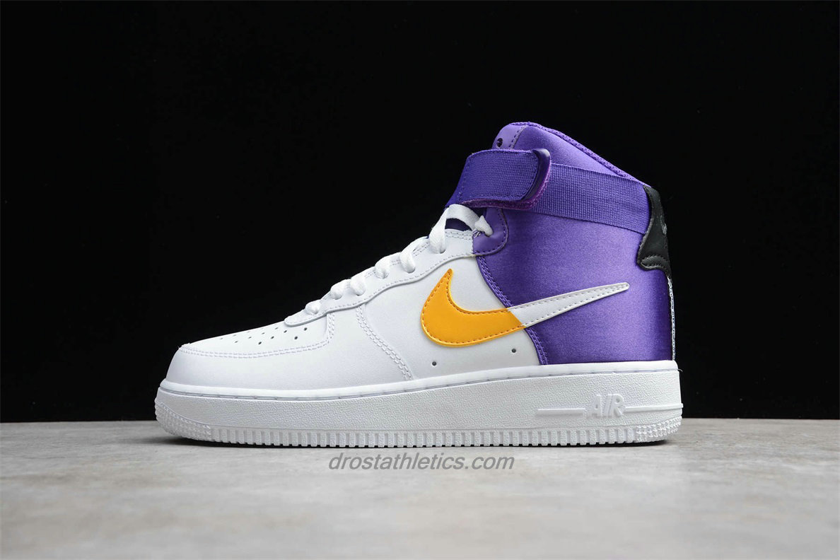 Nike Air Force 1 High 07 LV8 BQ4591 101 Unisex White / Yellow / Purple Lifestyle Shoes