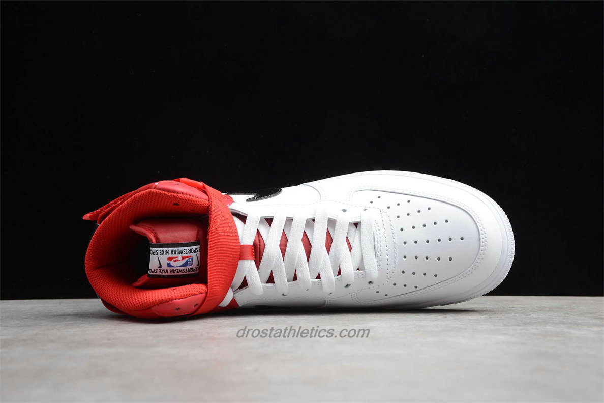 Nike Air Force 1 High 07 LV8 BQ4591 600 Unisex White / Black / Red Lifestyle Shoes