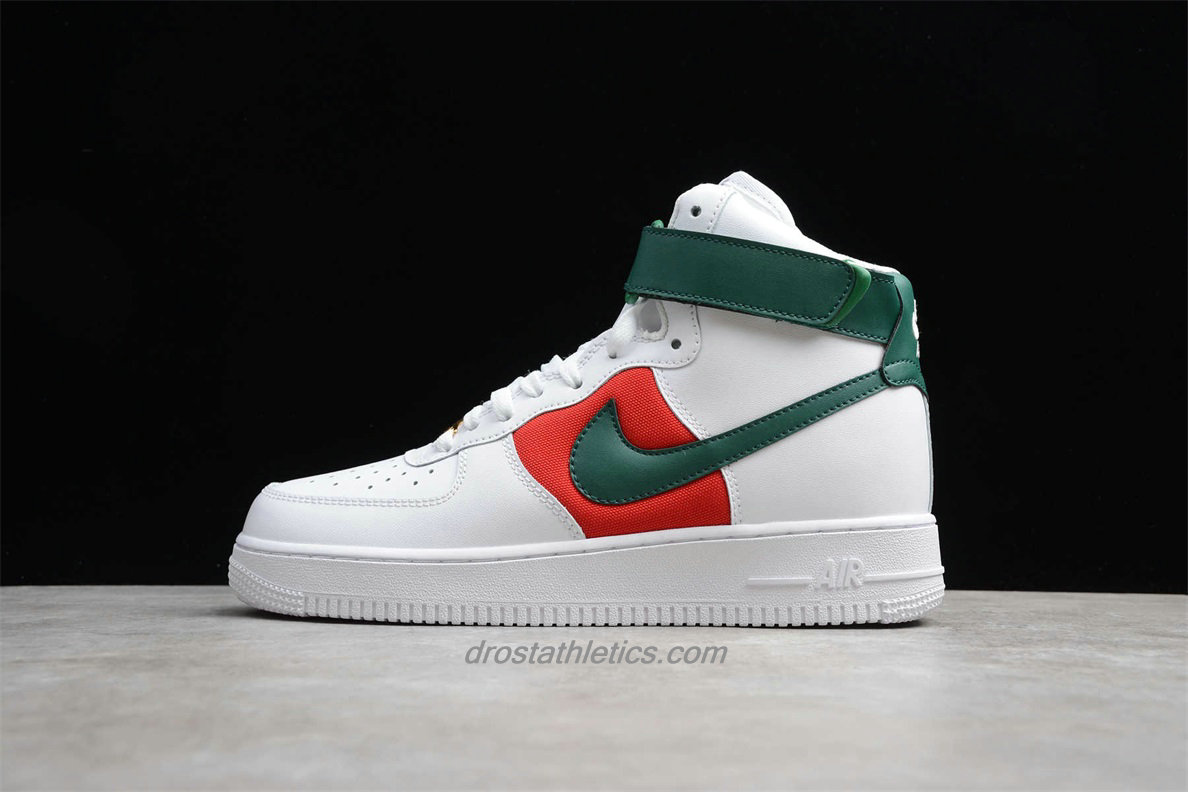 Nike Air Force 1 High 07 LV8 WB CK4580 100 Unisex White / Red / Green Lifestyle Shoes