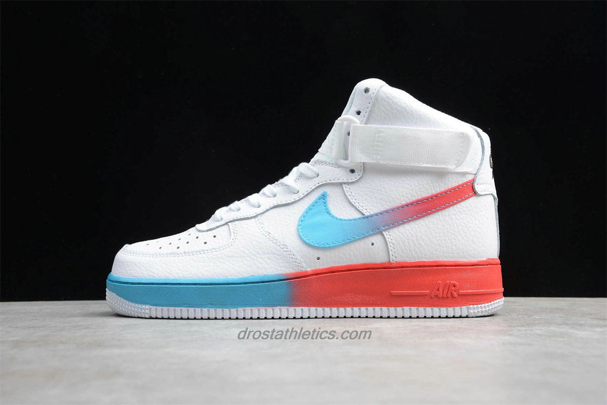 Nike Air Force 1 High 07 PRM 2 CJ0525 100 Men's White / Blue / Red Lifestyle Shoes