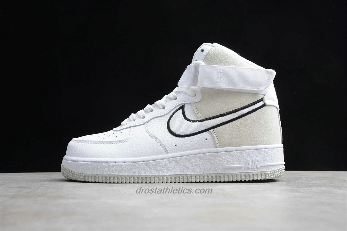 Nike Air Force 1 High 07 WB A02442 100 Men's White / Sand / Black Lifestyle Shoes