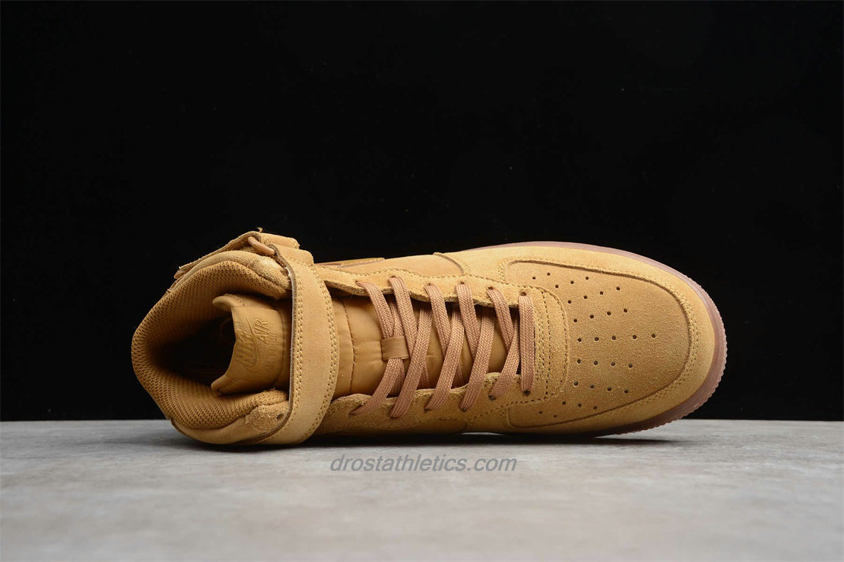 Nike Air Force 1 High 07 WB Suede CJ9178 200 Unisex Camel Lifestyle Shoes