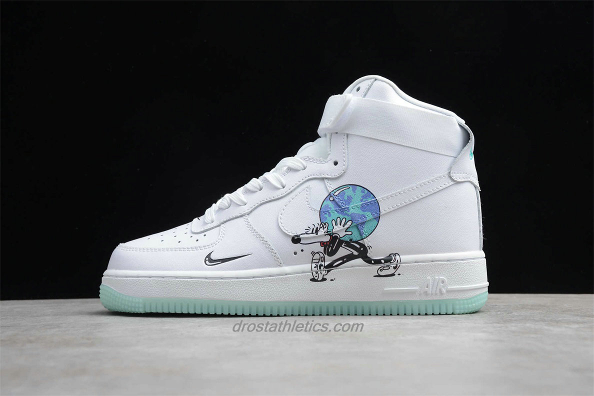 Nike Air Force 1 High Flyleather QS CI5545 100 Unisex White Lifestyle Shoes