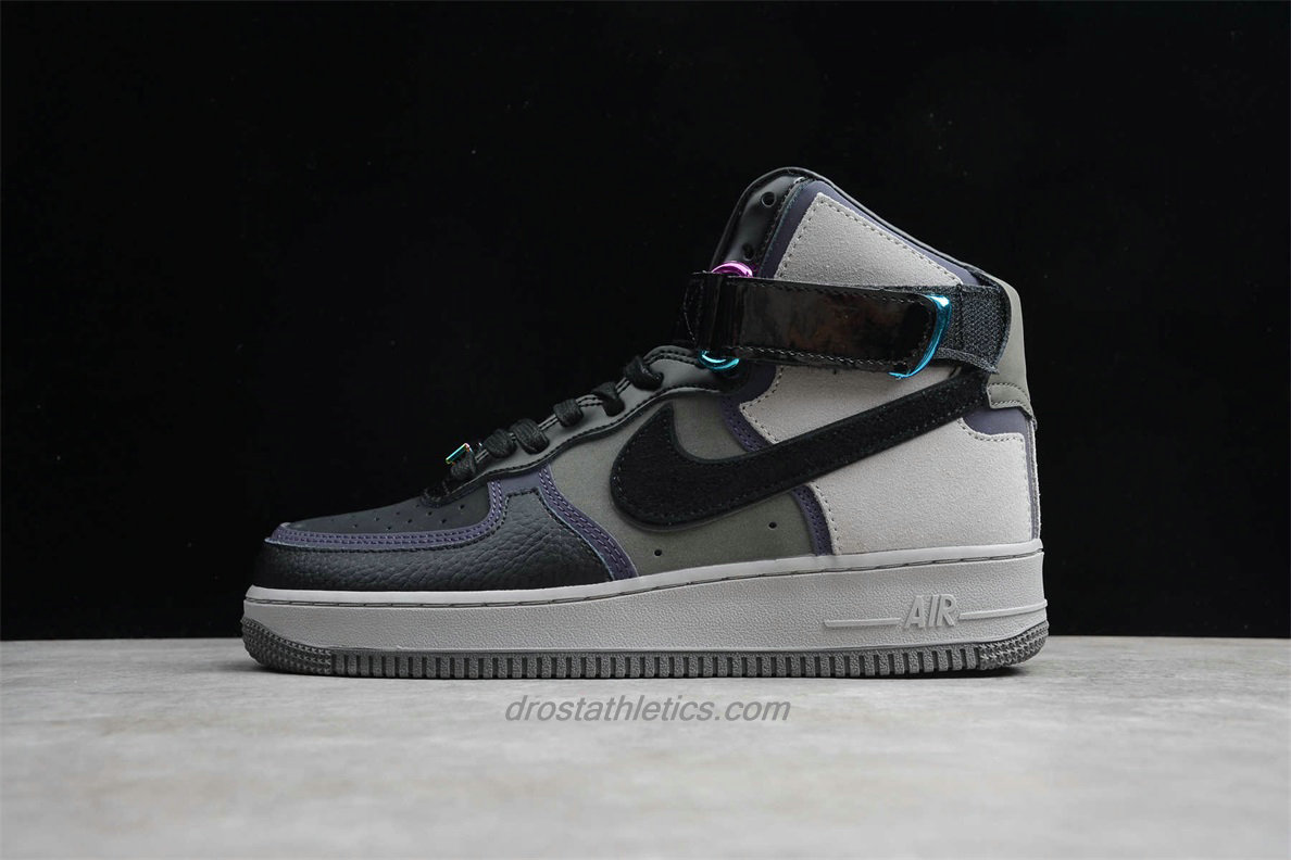 Nike Air Force 1 High CT6665 001 Men's Black / Sand / Grey / Purple Lifestyle Shoes