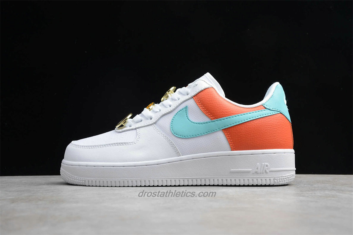 Nike Air Force 1 Low 07 SE AA0287 106 Unisex White / Green / Orange Fashion Sneakers