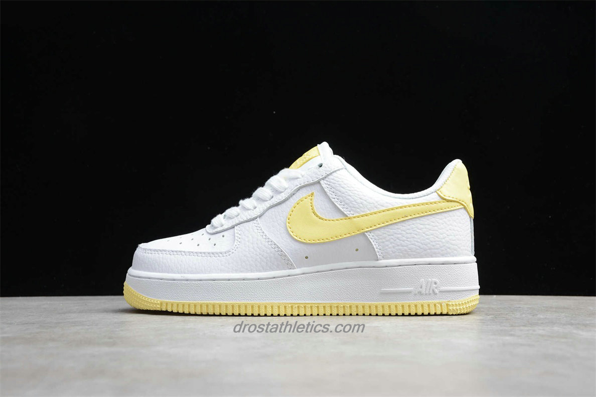Nike Air Force 1 Low 07 AH0287 106 Women's White / Yellow Fashion Sneakers