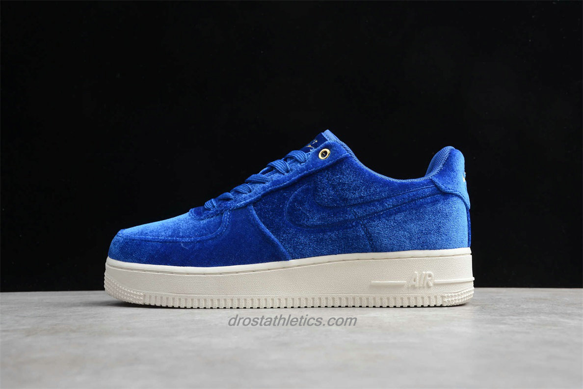 Nike Air Force 1 Low 07 PRM 3 AT4144 400 Men's Blue Fashion Sneakers