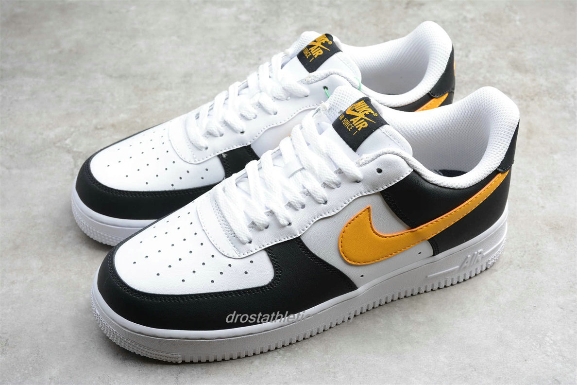 Nike Air Force 1 Low 07 RS CK0806 001 Unisex White / Black / Yellow Fashion Sneakers