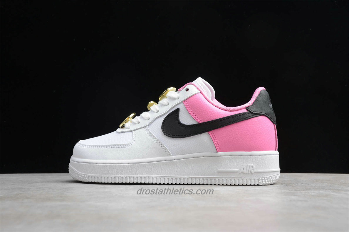 Nike Air Force 1 Low 07 SE AA0287 107 Women's White / Pink / Black Fashion Sneakers