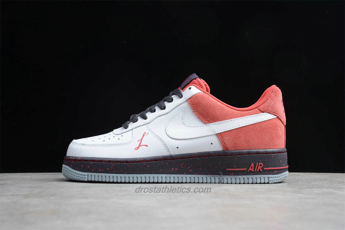Nike Air Force 1 Low 488298141 Unisex White / Red Fashion Sneakers