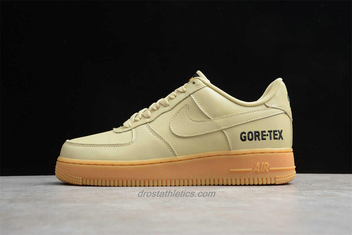 Nike Air Force 1 Low GORE-TEX CK2630 700 Men's Khaki Fashion Sneakers