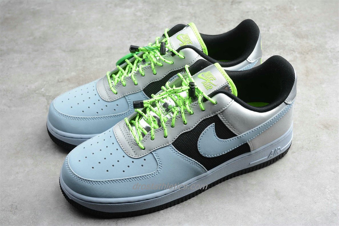 Nike Air Force 1 Low LO CN0176 400 Unisex Light Blue / Black / Silver Fashion Sneakers