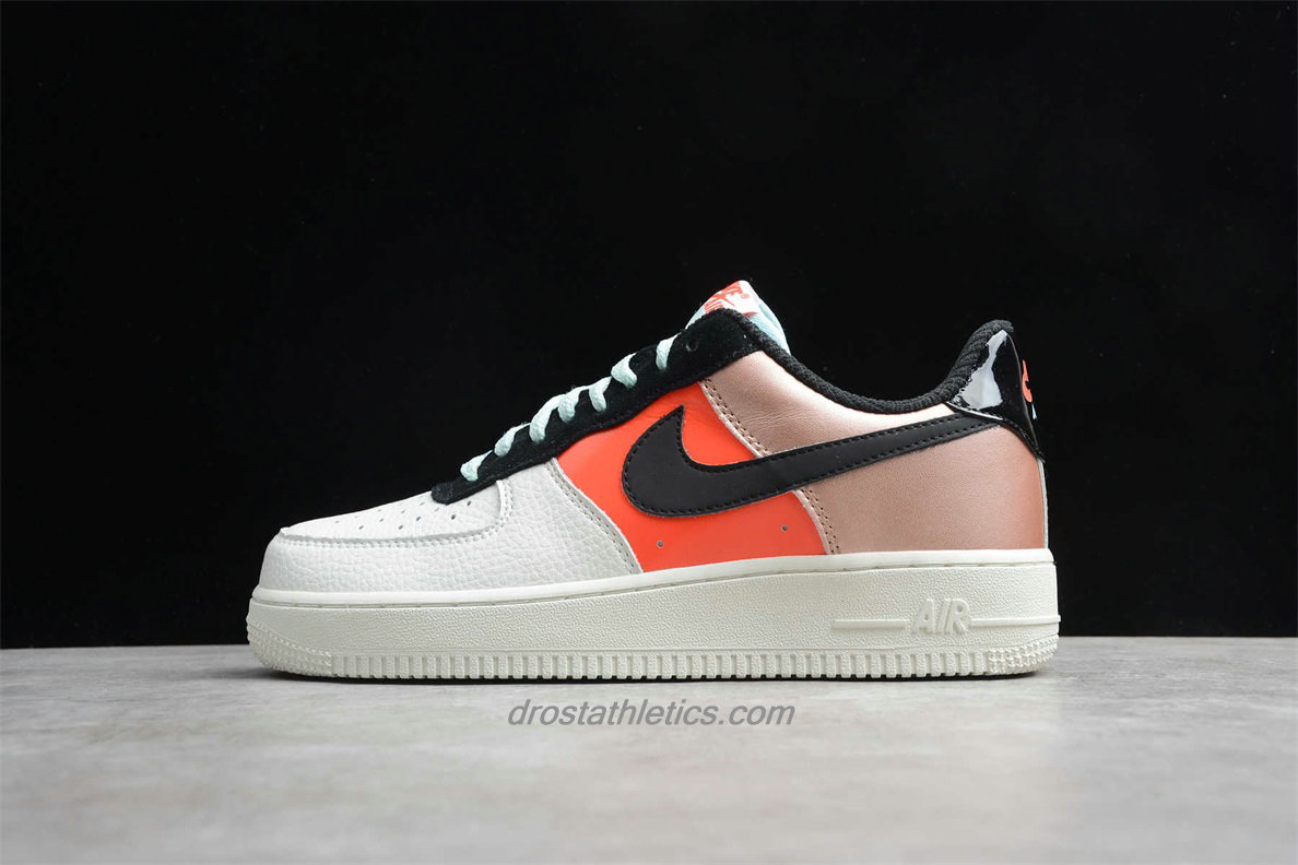 Nike Air Force 1 Low LO CT3429 900 Unisex White / Orange / Gold Fashion Sneakers