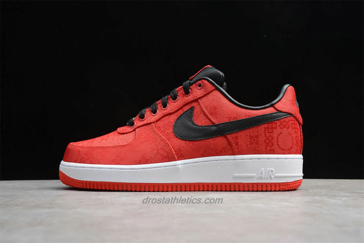 Nike Air Force 1 Low PRM CLOT 358701601 Men's Red / Black Fashion Sneakers