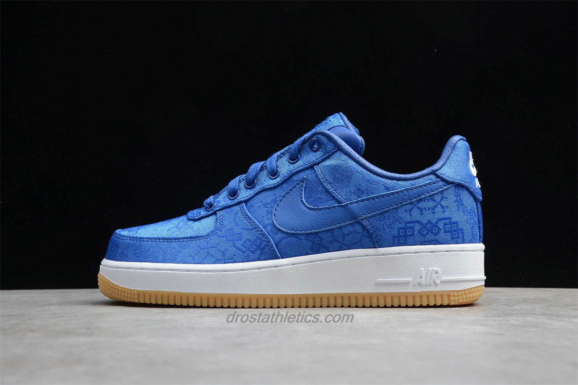 Nike Air Force 1 Low PRM CLOT CJ5290 400 Men's Blue Fashion Sneakers