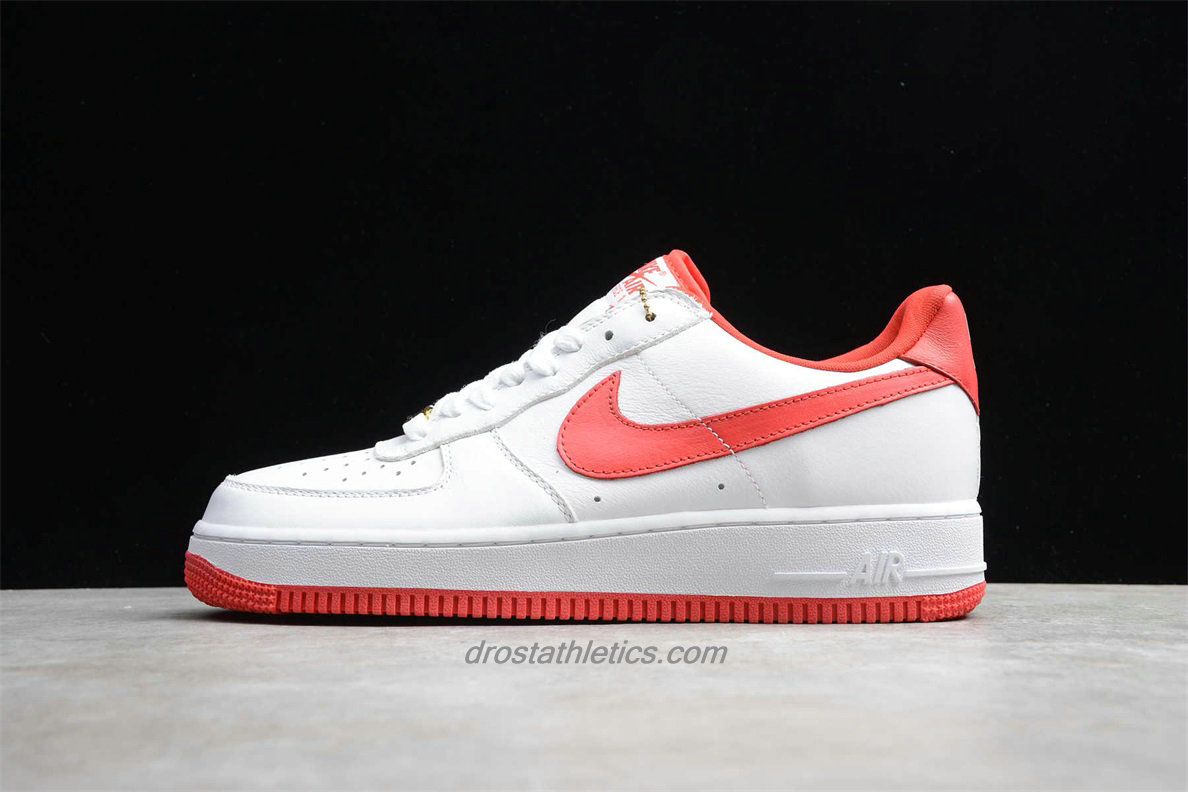 Nike Air Force 1 Low RETRO CT16 QS AQ5107 100 Unisex White / Red Fashion Sneakers