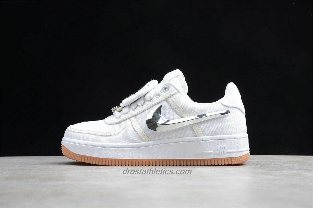 Nike Air Force 1 Low TRAVIS SCOTT AQ4211 100 Unisex White / Silver Fashion Sneakers