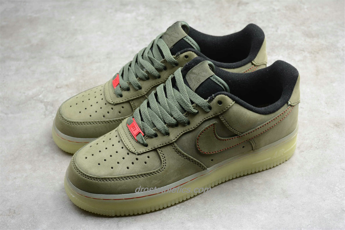 Nike Air Force 1 Low UPSTEP CJ6602 255 Men's Olive Fashion Sneakers