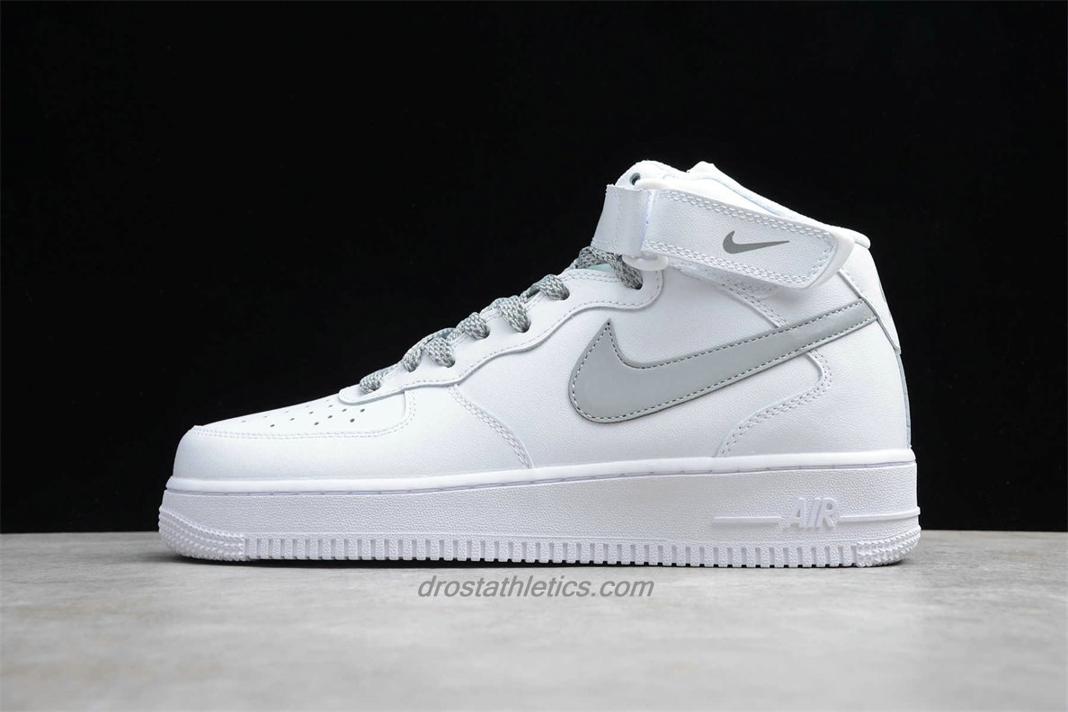 Nike Air Force 1 Mid 07 366731606 Unisex White / Grey Street Shoes