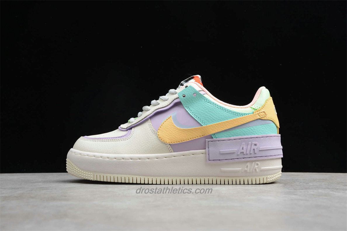 Nike Air Force 1 Shadow CI0917 101 Women's Beige / Purple / Green / Yellow Lifestyle Shoes