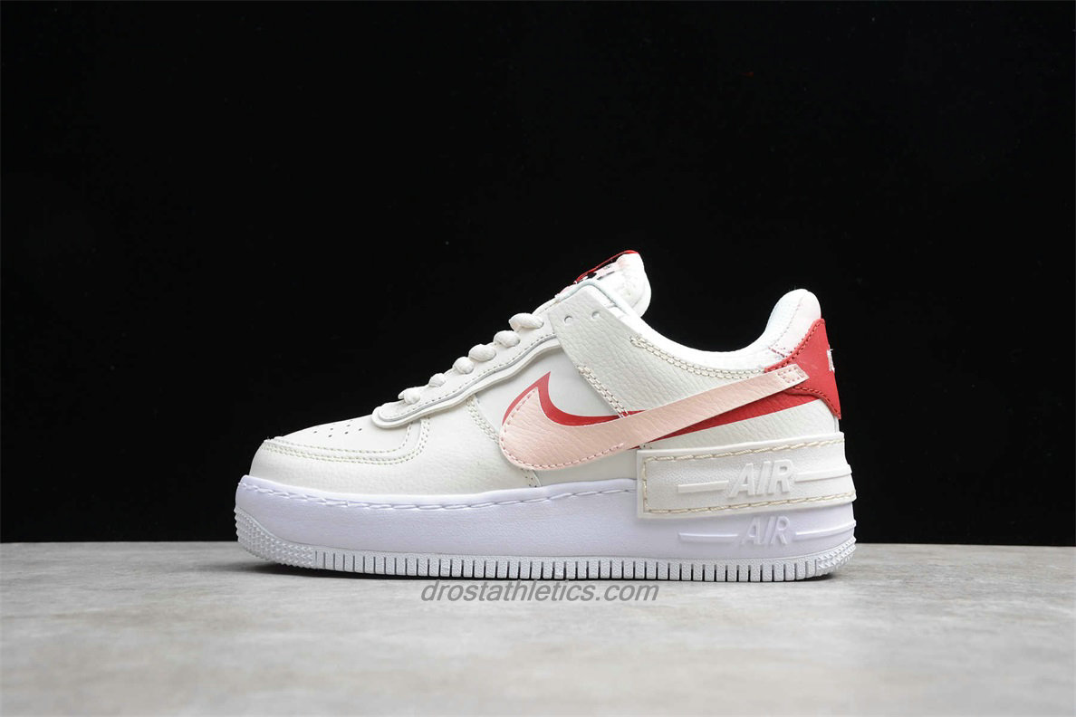 Nike Air Force 1 Shadow CI0919 003 Women's White / Pink / Red Lifestyle Shoes