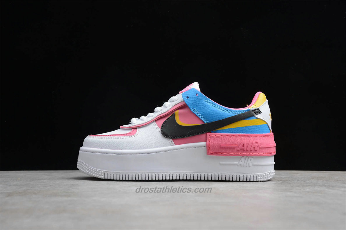 Nike Air Force 1 Shadow CI0919 021 Women's Pink / White / Blue Lifestyle Shoes