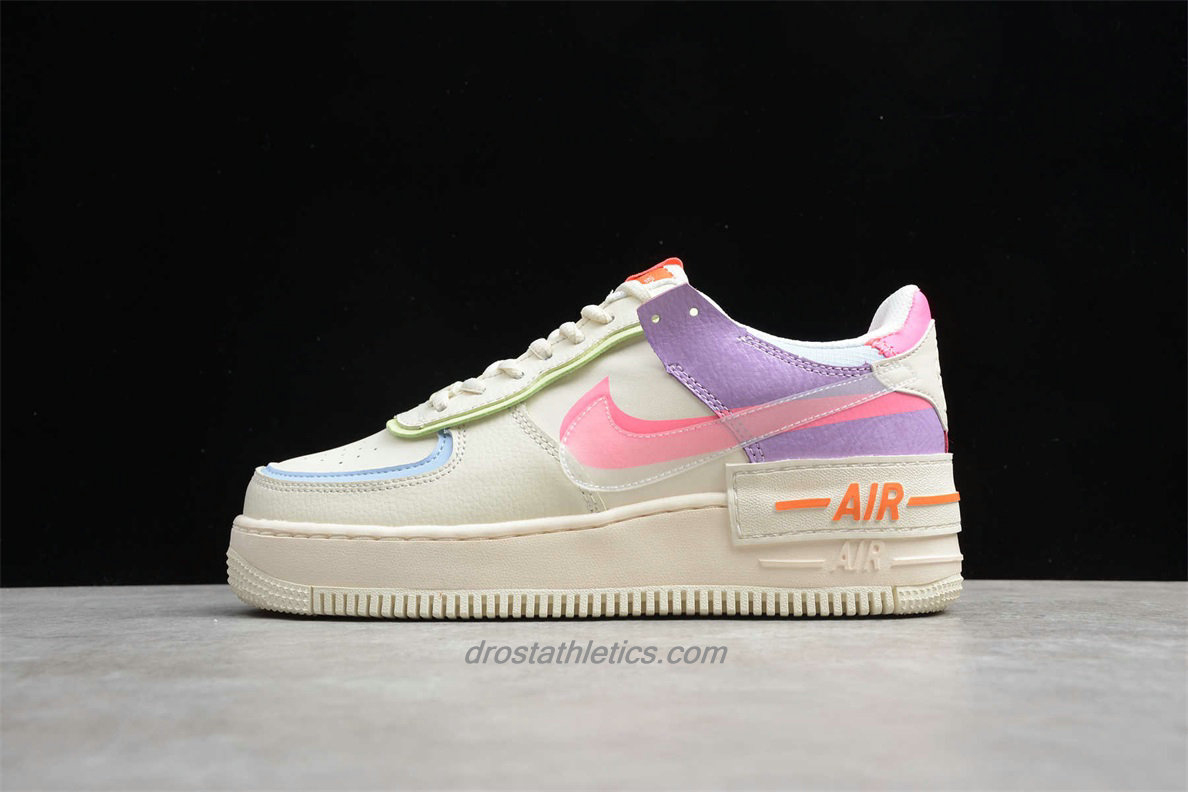 Nike Air Force 1 Shadow CU3012 164 Women's Beige / Purple / Pink Lifestyle Shoes