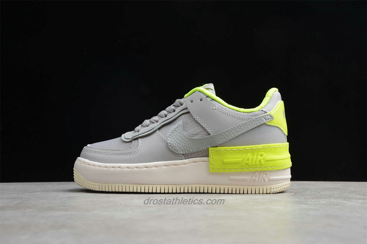Nike Air Force 1 Shadow SE CQ3317 002 Women's Grey / Green Lifestyle Shoes
